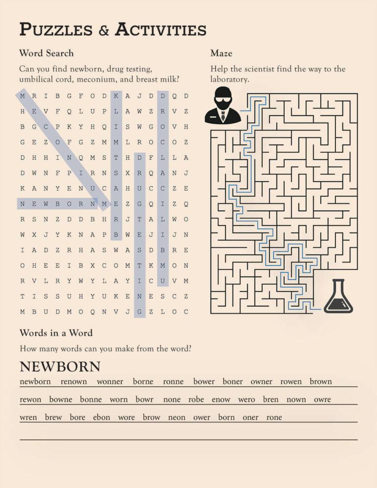 NeoTox | v8 i1 Puzzle & Activities Answer Key