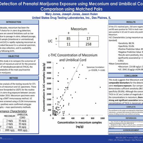 The Detection of Prenatal Marijuana Exposure using Meconium and Umbilical Cord: A Comparison using Matched Pairs